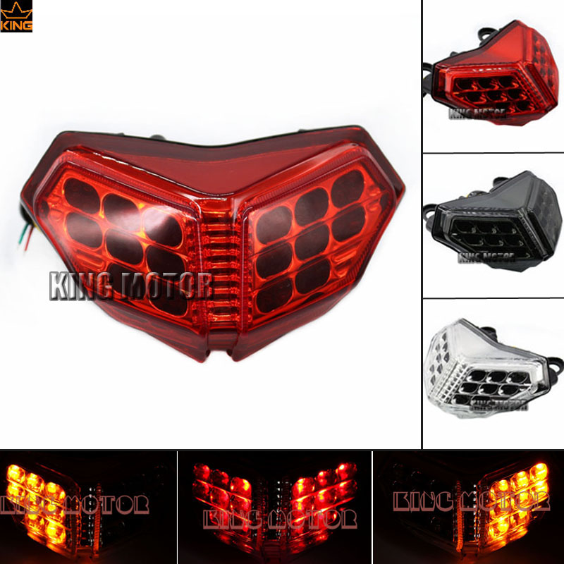 For DUCATI 848 1098 1198 Motorcycler Accessories Integrated LED Tail Light Turn signal Blinker Red for ducati streetfighter 848 1100 2012 2014 motorcycle integrated led tail light turn signal blinker red
