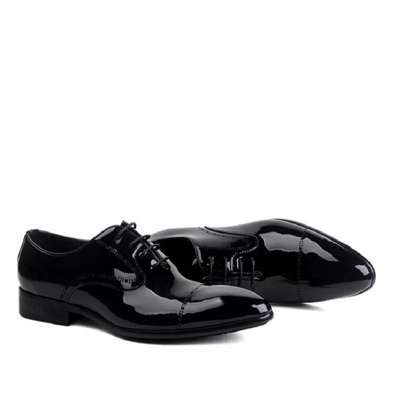 Do Negócios De Verdadeiros Pontas Chaussures Hommes Sapatos Patente Northmarch Dos Oxford Vestem Formal Couro Dedo Cuir Preto Homens Pé Se qwgEtUzE