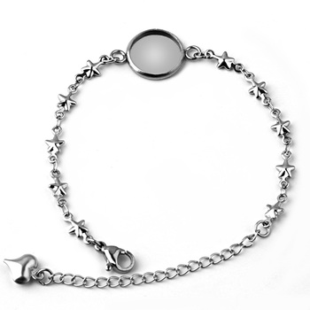 2pcs AliExpress New Pure Stainless Steel Stars DIY 12MM / 14MM 16MM 18MM 20MM Bracelet Tray Accessories