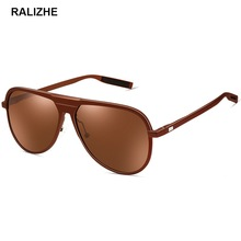 RALIZHE Brand Aluminum Magnesium Male Aviation Sunglasses Men Black Polarized Designer Sun Glasses Women Trending Styles UV400