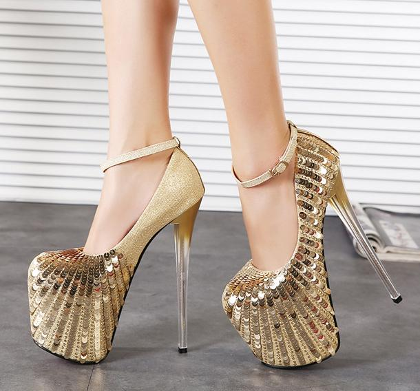 Popular Gold High Heel Shoes-Buy Cheap Gold High Heel Shoes lots