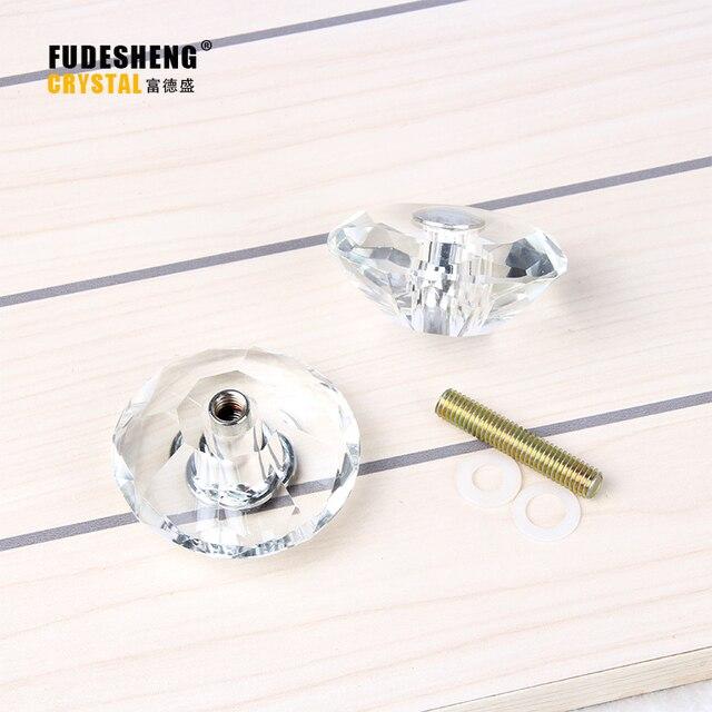 Transparent K9 Kristallglas Personalisierte Dekoration Zubehör Ziehen Sie  Die Tür Griff Bad Übergroßen Knöpfe 2 STÜCKE