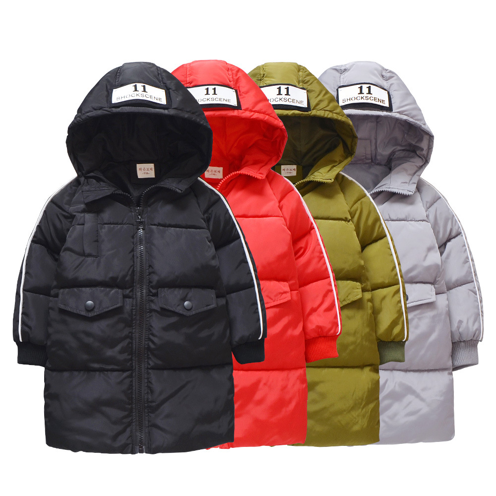 Kids Coats 2018 NEW Winter Coat Baby Boy Fashion down Jacket Baby Girl Warm Cotton Padded Clothes Children's Pure Cotton Jacket 2018 new fashion baby boy s coat middle length baby wool cotton padded jacket faux fur coat children winter clothes