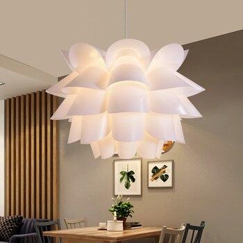 Современный Лотос подвесные светильники цветочный абажур подвесной светильник скандинавский Hanglamp для спальни гостиной креативный DIY подв...