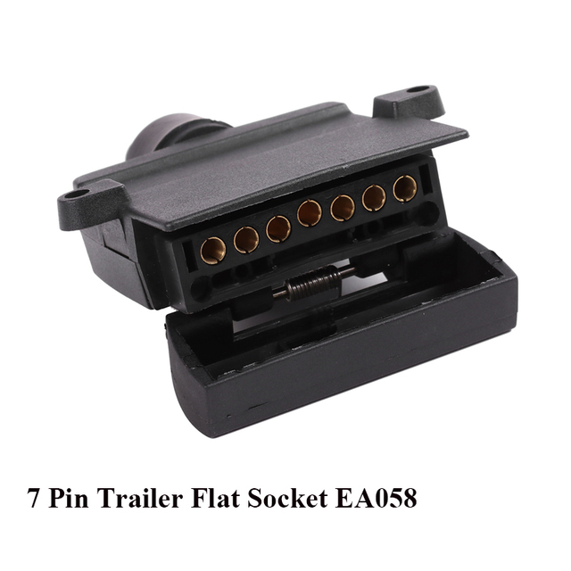 12V Car Accessories 7 Pin Flat Trailer Socket 7 way  core pole  truck  male plug adapter Towing campe  Electrics Connector