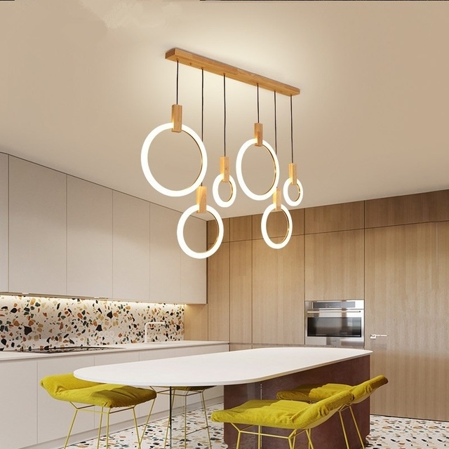 Moderno LED lampadario nordic living room lampada a sospensione camera da  letto apparecchi di illuminazione scale della novità loft appendere le luci