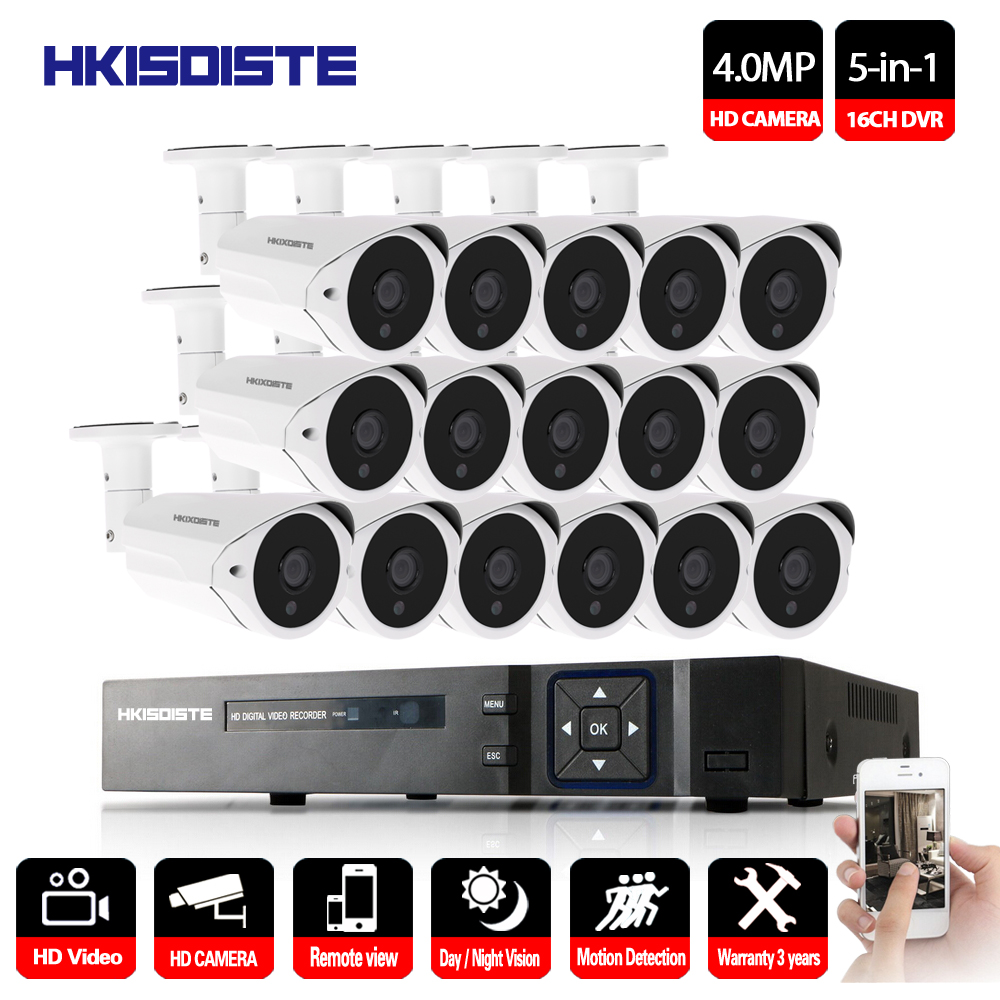 16CH 4.0MP AHD DVR CCTV System 4MP IR Night Vision Indoor Outdoor Camera Home Security Video Surveillance Kit 2TB HDD16CH 4.0MP AHD DVR CCTV System 4MP IR Night Vision Indoor Outdoor Camera Home Security Video Surveillance Kit 2TB HDD