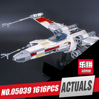 Lepin 05039 1586pcs Genuine New Star War Series The X Wing Red Five Starfighter Set Educational