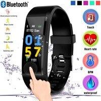 Banda inteligente para entrenamiento para hombres y mujeres, contador de kilometraje, cálculo de calorías, reloj Digital deportivo impermeable con monitoreo de ritmo cardíaco