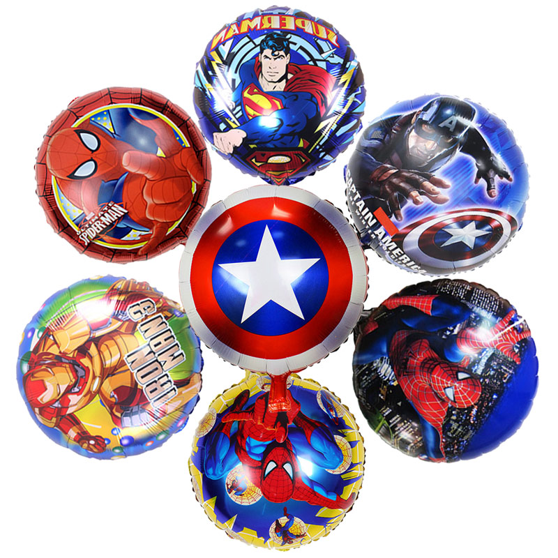 Event & Party Ballons & Accessories 50 Pcs/lot 18 Inch Super Hero Air Helium Balloons Avengers Batman Foil Balloon Children Birthday Party Supplies Baby Toys Decorn To Have Both The Quality Of Tenacity And Hardness