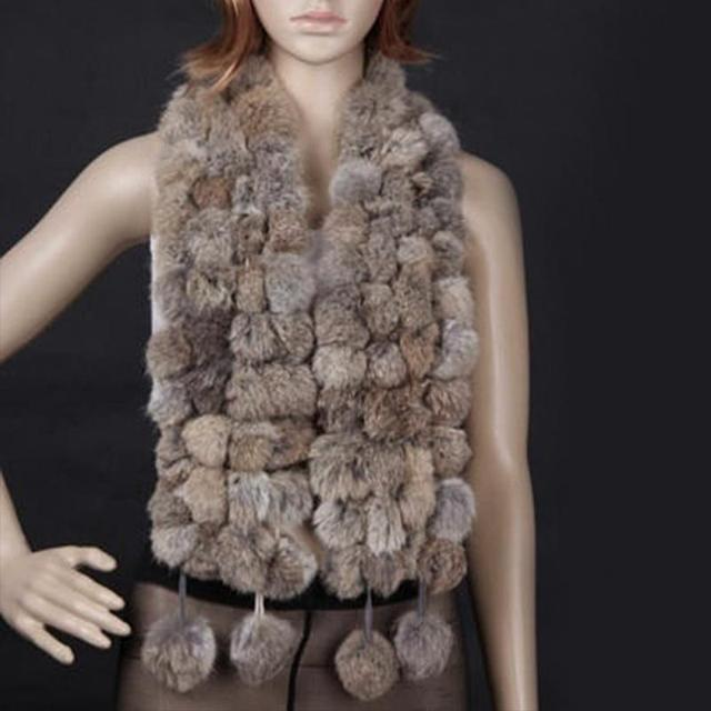 New Winter Unique Stylish Comfortable Faux Fur Shawl Hairball Warm Collar Stole Scarves Scarf 4 colors #913
