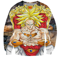 Anime Dragon Ball Z Sweatshirt Outerwear Men 3D Sweatshirts Crewneck Hoodies