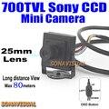 2016! 960 H 700TVL Mini Cámara 1/3 ''Sony CCD OSD Con botón Y de Larga Distancia De Vista Home Vigilancia Seguridad Sistema de CIRCUITO CERRADO de televisión
