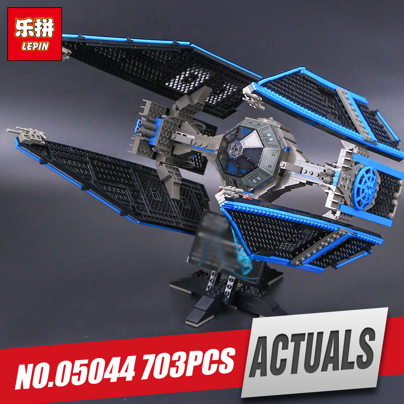 2018 Lepin 05044 Star Stunning Model Wars Limited Edition The TIE Interceptor Building Blocks Bricks Toys legoing 7181 Boys Gift конструктор lepin star plan истребитель tie interceptor 703 дет 05044