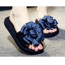 Flowers Woman Beach Flip Flops Summer Sandals Slip- Resistant women slippers Platform Sandals High-quality summer women shoes k6