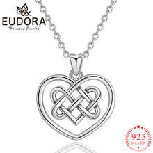 Ожерелье с кулоном в виде сердца eudora из стерлингового серебра