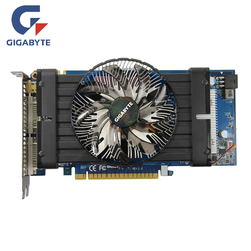 Gigabyte GTX 550Ti 1GB Video Card GPU GDDR5 Graphics Card For NVIDIA Map Original GeForce GTX550 Ti 1GD5 Cards Dvi VGA Videocard