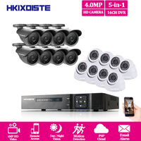 2560*1440 P 4MP и наружная система видеонаблюдения 16CH AHD 5MP NVR DVR 16 шт. 4MP IR CUT наружная камера безопасности Система DVR 16 каналов