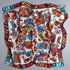 Animal Cats Pattern Large Square Silk Scarf Shawl Women 100 Satin Silk Scarfs Wraps Hijab For