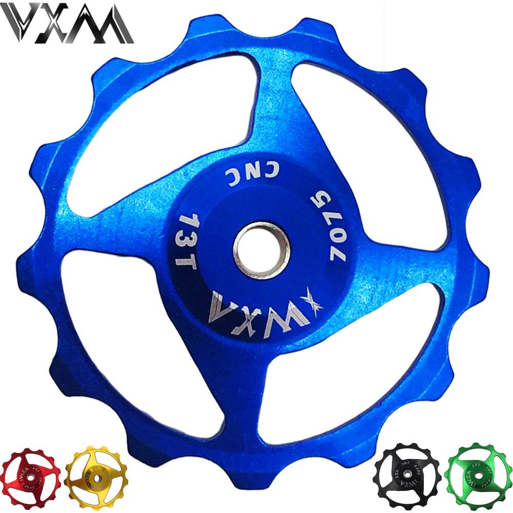 Bicycle Jockey Wheel For Rear Derailleur 13T Gear Mech Pulley Set Red 5 Pcs
