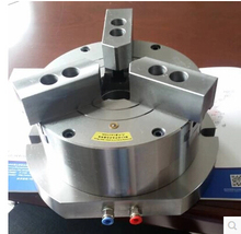Hollow vertical pneumatic chuck with three jaws KL320TQ-3 hole 90