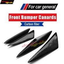 цена на For KIA K7 Universal 4Pcs Front Bumper Lip Splitter Air Knife Body Kit For KIA K7 Carbon Front Bumper Lip Splitter Car-Styling