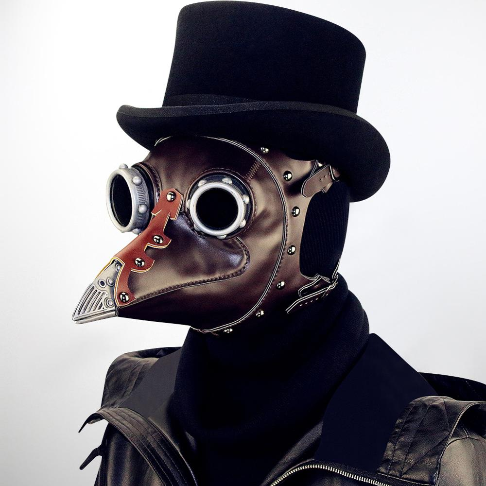 NEW Steampunk Plague Bird Mask Halloween Plague Doctor Cosplay Prop Gothic Costume Accessories Stage performances party supplies