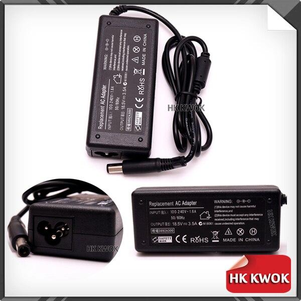 Универсальный Зарядное устройство для Ноутбуки 5 шт./лот адаптер переменного тока Зарядное устройство 18.5 В 3.5a для HP G60 G70 dv5 dv6 dv7 dv4 CQ45 CQ50 CQ60 HP н...