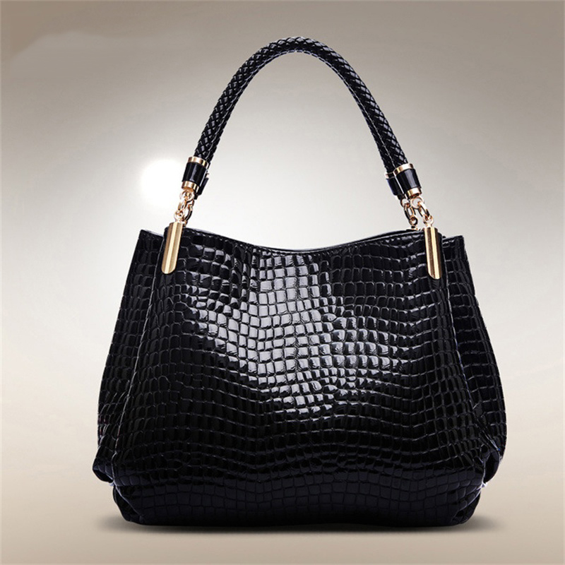 ФОТО Famous Brands Handbags 2017 Luxury elegant female big bags Crocodile women's PU leather handbag cowhide messenger bag W0004