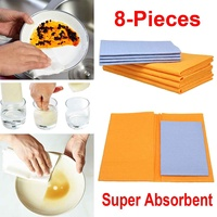8 Pcs Cleaning Cloths Set Super Absorbent Towels Household Cleaning Kitchen Wash Outdoor Car Pet Towels Kit Water Absorption