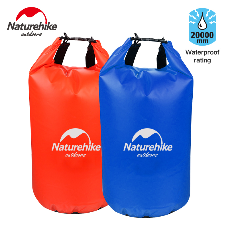 Naturehike Ultralight Waterproof Rafting Bag Dry 3 Colors Outdoor Swimming Nylon Kayaking Storage Drifting Bag Backpack Bag 50L