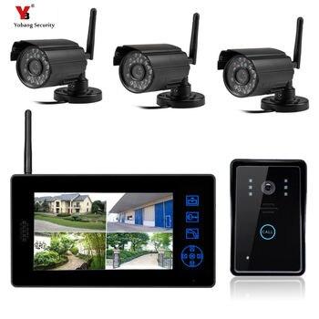 Видеодомофон yomang, бесплатная доставка, беспроводная система видеонаблюдения для дома, наружная беспроводная дверная камера, видеодомофон
