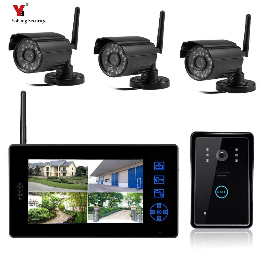 Yobang Sécurité Freeship Sans Fil Vidéo Porte Téléphone Maison Système de Vidéosurveillance Extérieure Sans Fil Caméra De Porte Vidéo Interphone