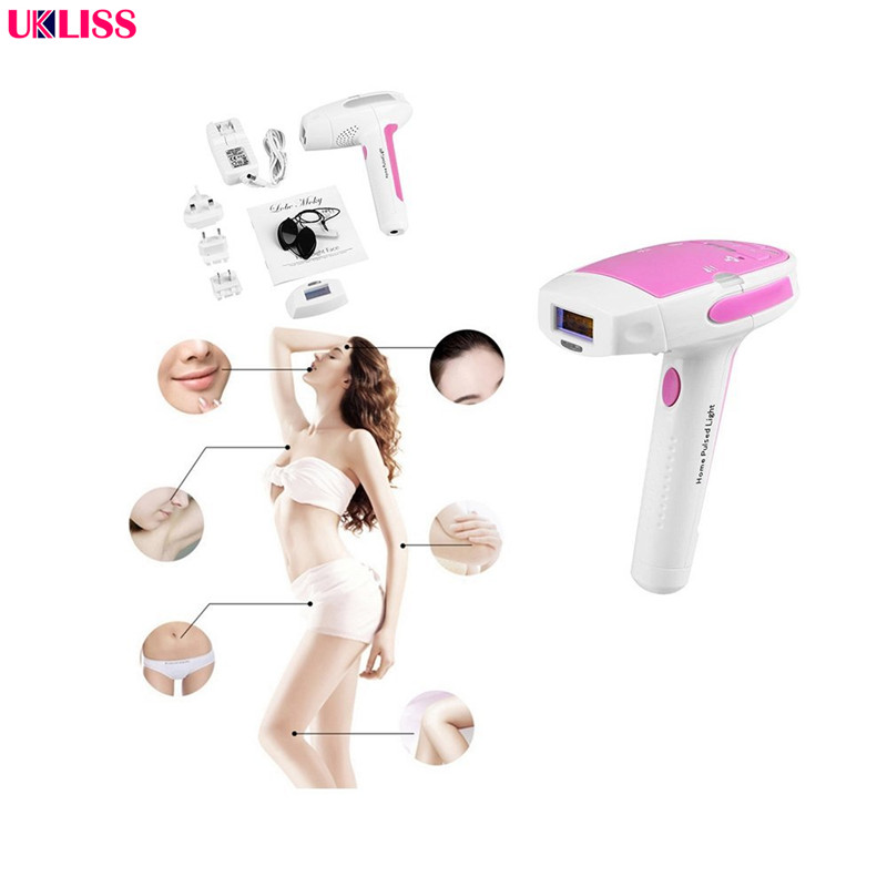Hottest Permanent Laser Hair Removal Pink IPL Hair Removal 300,000 Pulses Home Laser Epilator rebune mini painless ipl permanent hair removal laser hair epilator depilador 120000 pulses home bikini lightsheer beauty device