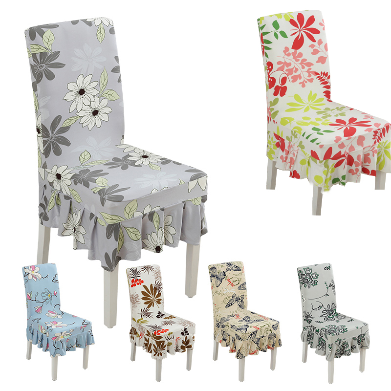 Spandex Floral Pattern Anti Dirty Dining Chair Covers