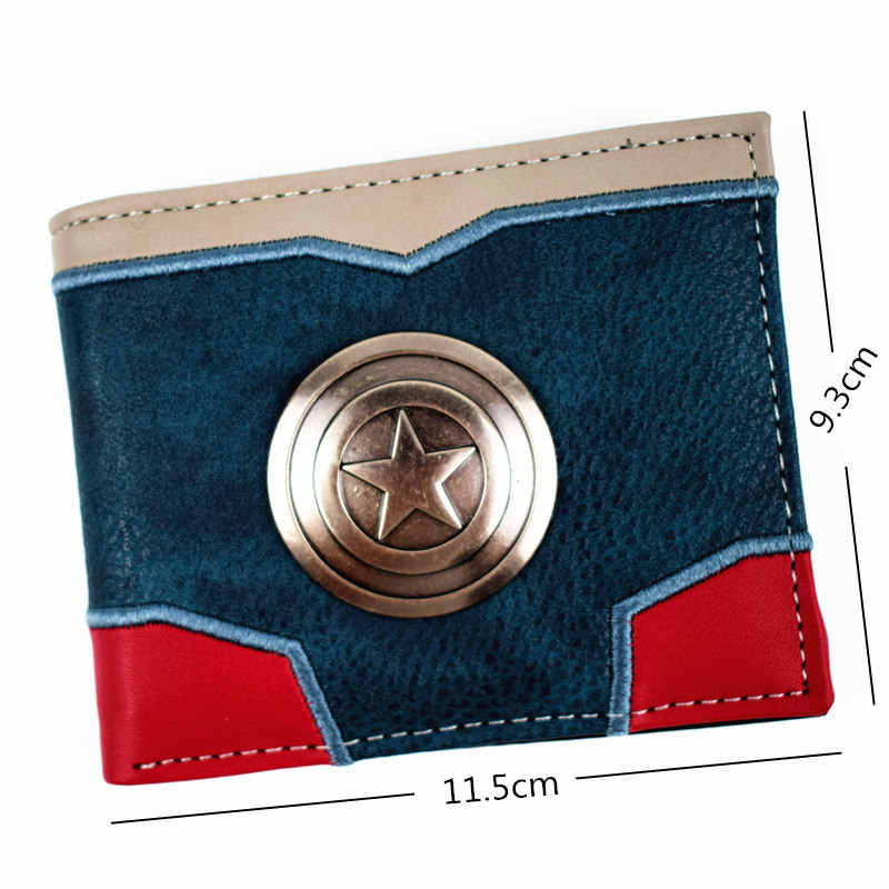 FVIP New Design Captain America / Deadpool /Thanos Wallet Men's Short Wallet