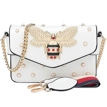NEW-Hot Fashion Rhinestones Bee Purses And Handbags For Women Shoulder Bags Crossbody Bags For Women Small Chain Bag