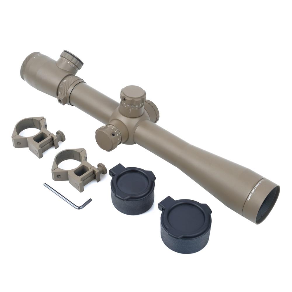 SEIGNEER Sniper Hunting Optics Riflescope 3.5-10X40 Rifle Scope Hunting Dual Red&Green Illuminated Optics Weaver/Picatinny Scope