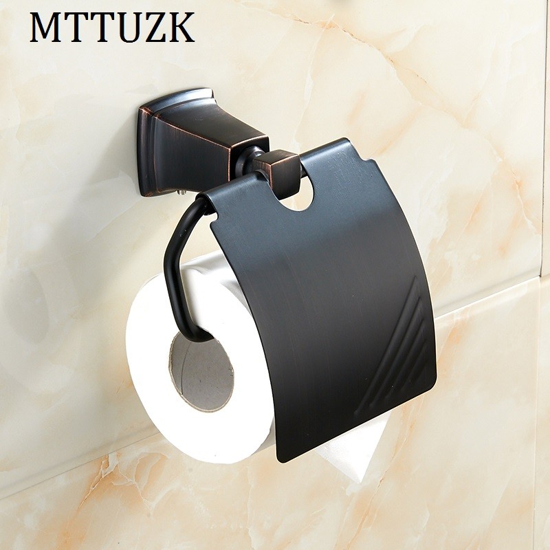 MTTUZK oil bubbed bronze Stainless steel paper towel rack bathroom paper holder roll Holder tissue holder