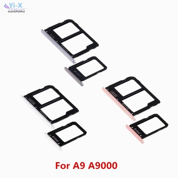 10Set/lot SIM Card Tray Slot Holder Adapter + Micro SD Card Holder For Samsung Galaxy A9 A9000