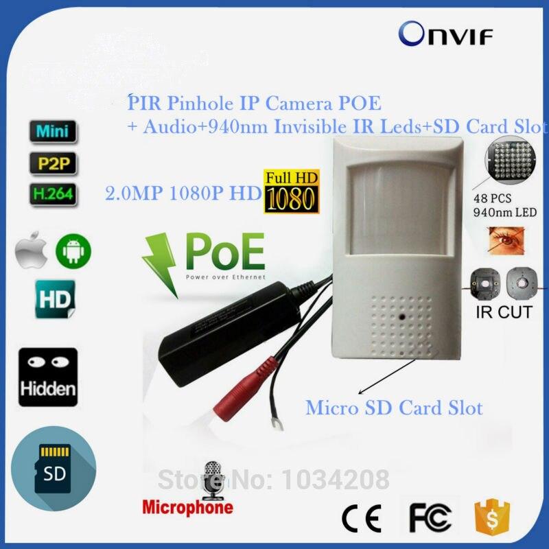 Emplacement pour carte TF 1080 P Full HD 1/2. 9 ''capteur SONY IMX323 Ultra faible éclairage 940NM réseau IR caméra IP POE caméra de sécurité P2P