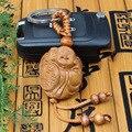 Nueva Llegada de Madera de Azufaifo 3D Artesanías de Madera de Buda Tallado Llavero moneda llavero Coche bodhisattva Llavero Por Mayor 1 unid