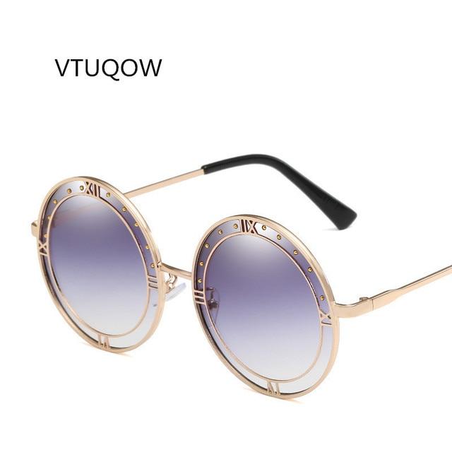 0ff5e1b022 Fashion Women Round Oversized Sunglasses 2019 Newest Luxury Brand Designer  Ocean Lens Shades Sun Glasses For Women Ladies Female
