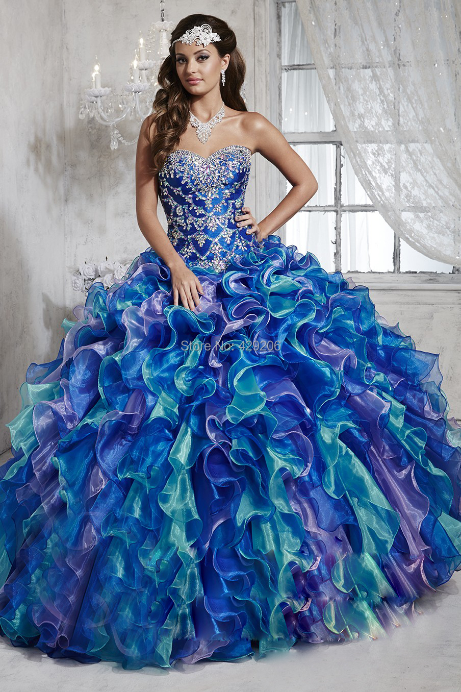 Aliexpress.com : Buy Amazing Ball Gown Quinceanera Dresses 2016 ...