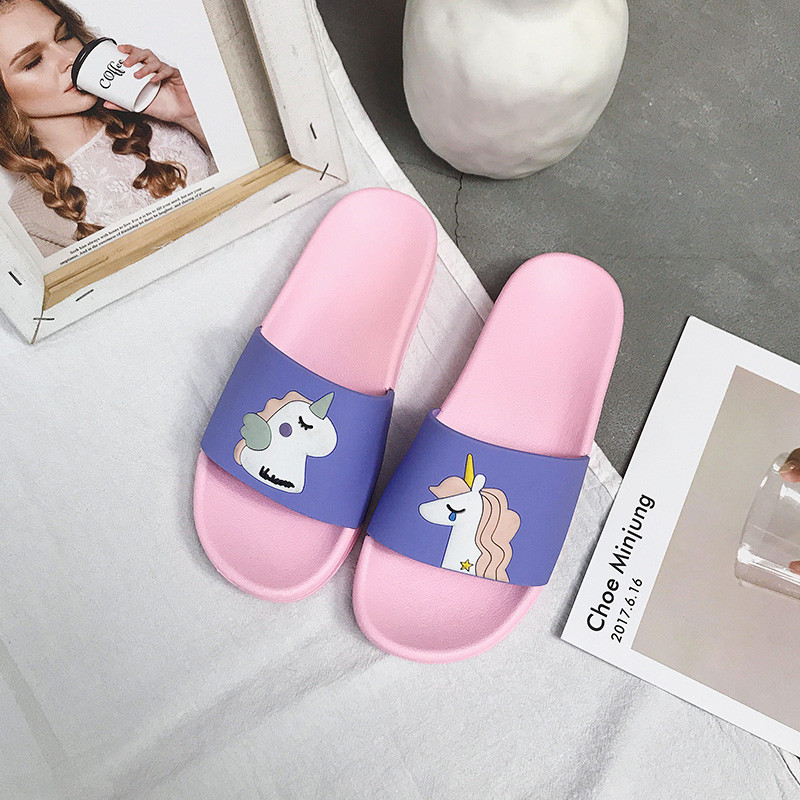 Unicorn Slide Sandals Women Slides Summer Cartoon Slippers Women Shoes Ladies Flip Flops Slide Sandals Beach Zapatillas Mujer 3