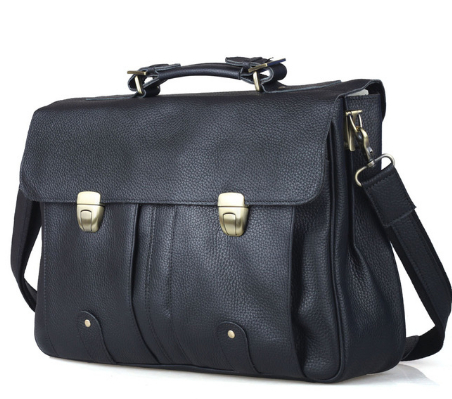 men s Top Quality Men s Genuine Leather 15 inch Laptop Tote Briefcases Shoulder Bags 3820