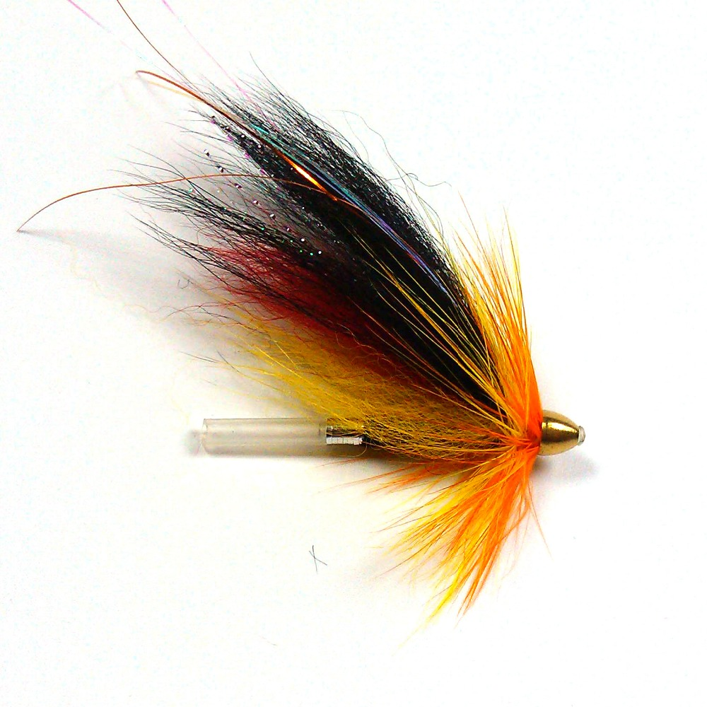 [4 PZ] Conehead <font><b>Tubo</b></font> Fly Fishing Flies Salmon Sea Tourt Teaser <font><b>Tubo</b></font> Richiamo di Pesca Box Gratuito image