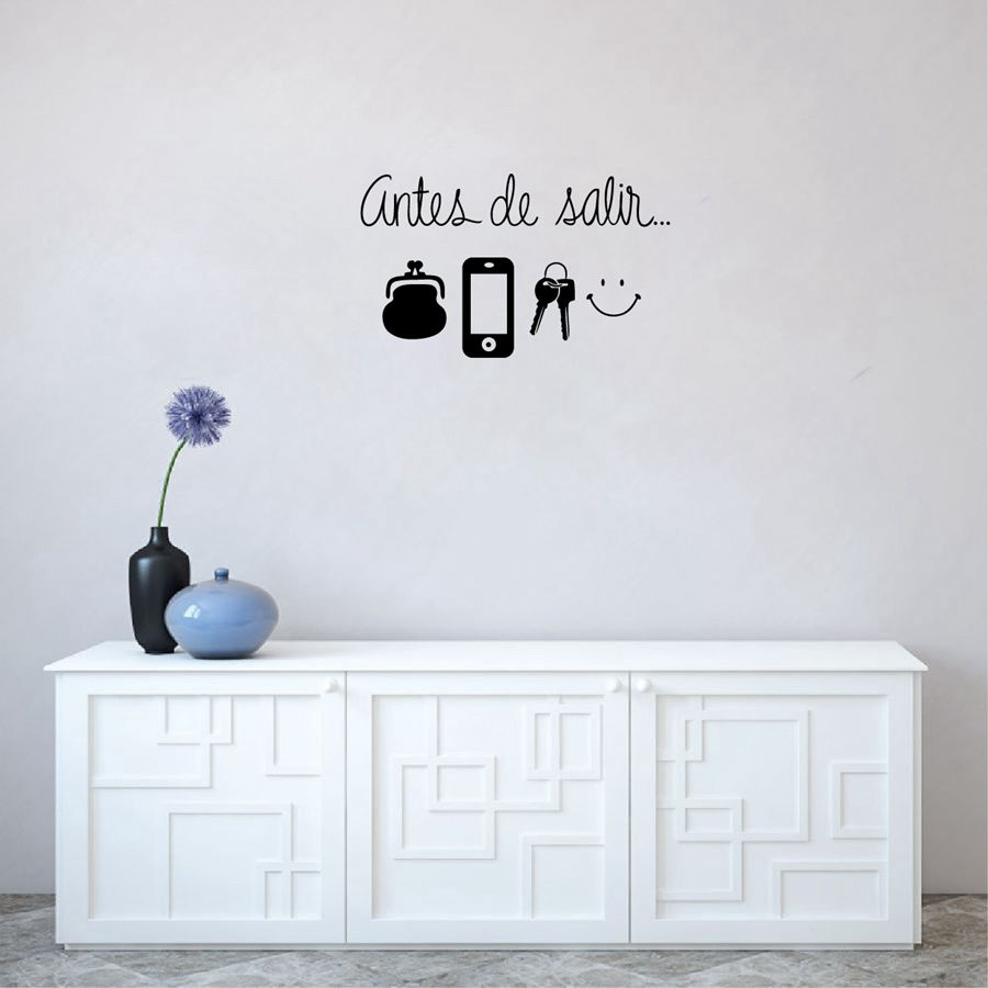 ᐂSpagnolo Art Wall Stickers Quotidiano Prima di Lasciare Promemoria ...