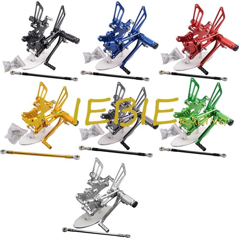 CNC Racing Rearset Adjustable Rear Sets Foot pegs Fit For Honda CBR600 CBR 600 F4 F4I 1999 2000 2001 2002 2003 2004 2005 2006