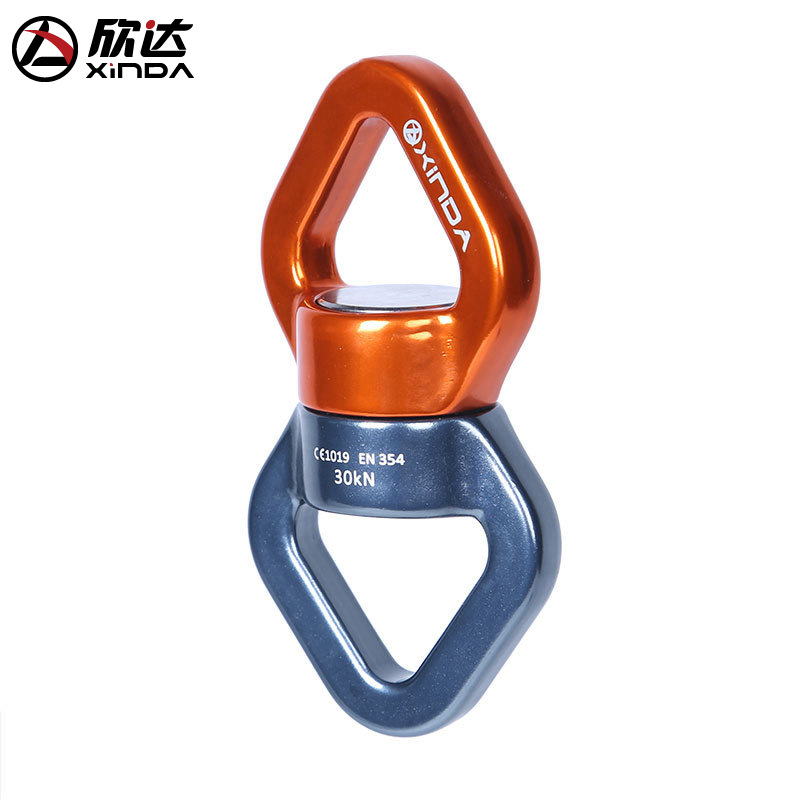 XINDA 30KN Safety Rappel Device Rotator Rope Swivel Connector Outdoor Rock Climbing Carabiner Abseiling Downhill Climb Equipment in Climbing Accessories from Sports Entertainment